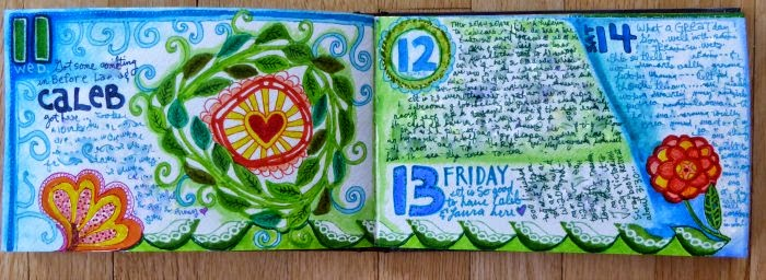 April 2015 StencilClub - Artist Journal Daily 2 - Janet Joehlin