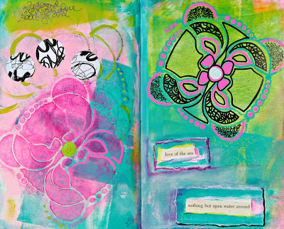 June 2015 StencilClub - Art Journal - Mary C. Nasser
