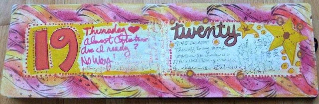 Dec 2013 StencilClub - Art Journal 2 - Janet Joehlin