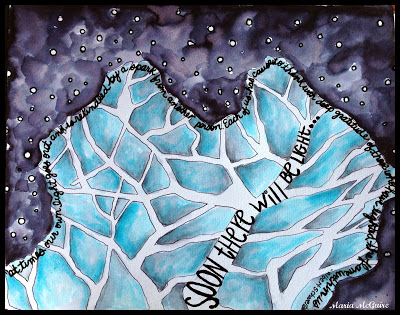 Dec 2013 StencilClub - Art Journal 2 - Maria McGuire