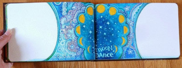 Dec 2013 StencilClub - Art Journal 3 - Janet Joehlin