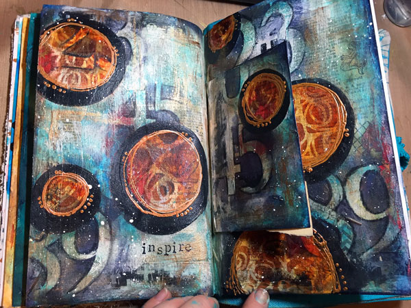 Dec2015 StencilClub - Art Journal 1 - Gwen Lafleur