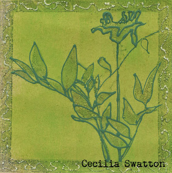 Gelli Printed Backgrounds with Ink - Cecilia Swatton