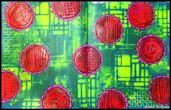 January 2015 StencilClub - Art Journal Texture - Maria McGuire