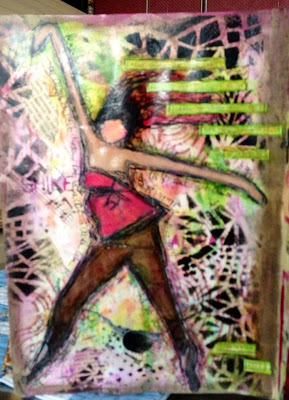 July2013 StencilClub - Art Journal - Micki Harper