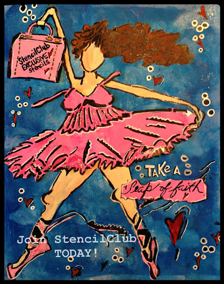 July2013 StencilClub - Art Journal - Maria McGuire
