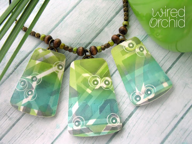 Aug2016 StencilClub - Stenciled Necklace - Lorraine Vogel