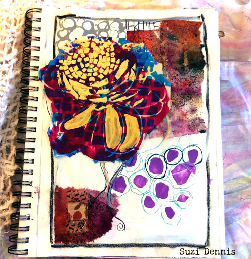 Mar2016 StencilClub - Art Journaling - Suzi Dennis