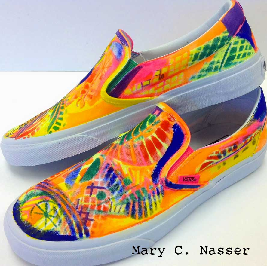 Stenciling Your Shoes by Mary Nasser