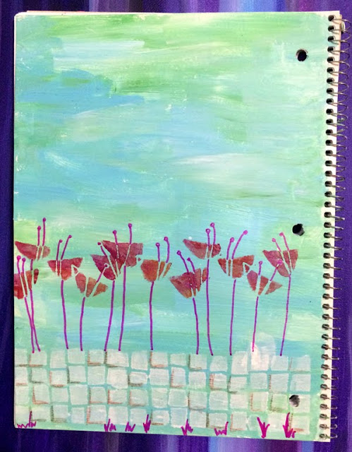 May2016 StencilClub - Altered Notebook 2 - Carol Baxter