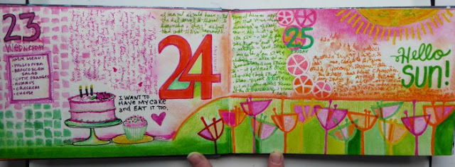 May2016 StencilClub - Art Journaling - Janet Joehlin