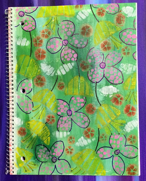 May2016 StencilClub - Altered Journal - Carol Baxter
