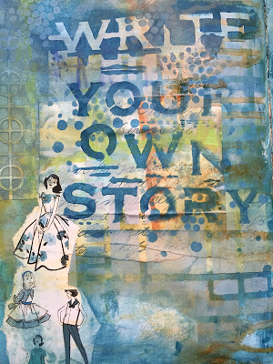 Nov2015 StencilClub - Art Journal 2 - Mary Beth Shaw