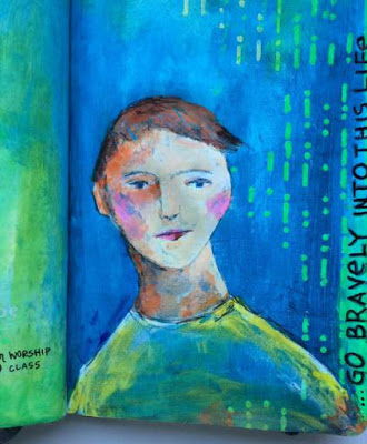 Sept2015 StencilClub - Art Journal 2 - Janet Joehlin