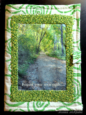 Stenciled Fabric Art Journal with Image Transfer Tutorial - Maria McGuire