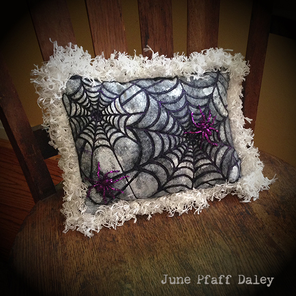 Stenciled Throw Pillow Tutorial - June Pfaff Daley