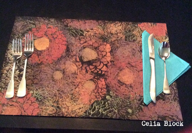 Stenciled Placemat Tutorial by Celia Block