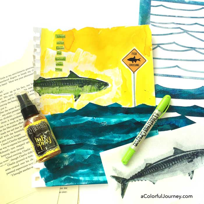 Jun2016 StencilClub - Art Journaling - Carolyn Dube