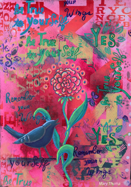 Sept2016 StencilClub - Art Journaling 3 - Mary Thoma