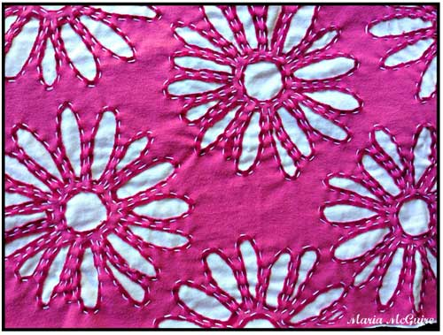 Stenciled and Stitched Daisies with Maria McGuire
