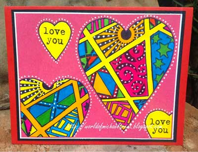 Stendoodling Heart Cards by Michael Trent