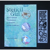 Stencil Girl Mixed Media Techniques for Making and Using Stencils with exclusive stencil