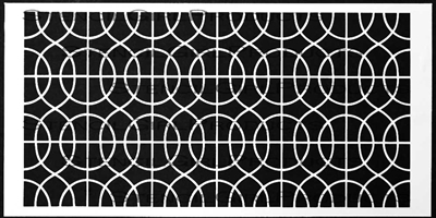 Curvy Lattice 12x24 Stencil by Mary Beth Shaw