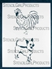 Rooster Dog Stencil by Judy Wise