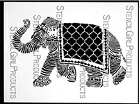 Elephant March Stencil by Nathalie Kalbach
