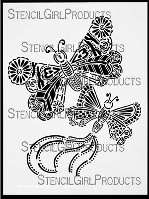Butterfly Duo Stencil by Maria McGuire