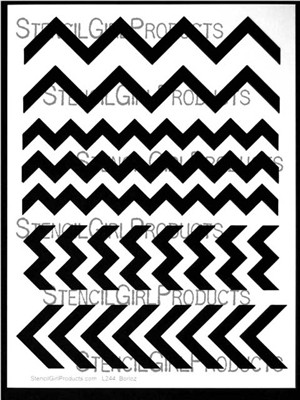 Chevron Set #2 Stencil by Andrew Borloz
