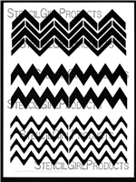 Chevron Set #4 Stencil by Andrew Borloz