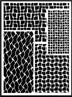 Rectangular Patterns for Play Stencil by Carolyn Dube