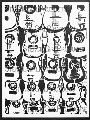 Guitars Stencil by Daniella Woolf