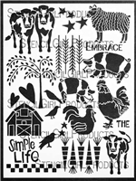 On the Farm Stencil by Jessica Sporn