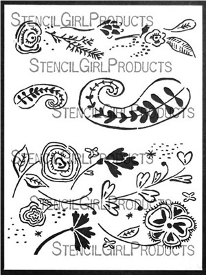 Boho Patterns Stencil by Cathy Nichols