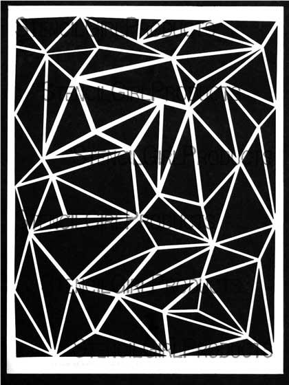 geometric sky stencil
