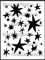 Stars Inspired by Matisse Stencil by Carolyn Dube