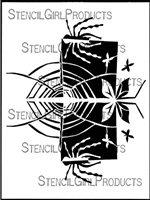 Spider Web Stencil by Jane Dunnewold