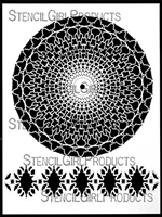 30 Point Mandala and Border Stencil by Kristie Taylor