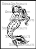 Love Mermaid Stencil by Cathy Nichols