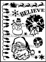 Christmas Stencil #2 by June Pfaff Daley