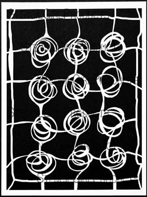 Web of Roses Stencil by Mary Beth Shaw