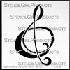 Plain Clef Mini Stencil by Nancy Curry