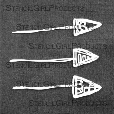 Trio of Arrows stencil by Rae Missigman
