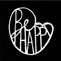 Be Happy Stencil by Maria McGuire