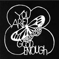You Are Good Enough Stencil by Maria McGuire