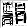 Art and Rope Chairs Stencil by Angela Cartwright