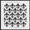 Repeating Fleur de Lys Small Stencil by Michelle Ward