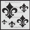 Fleur de Lys Set Stencil by Michelle Ward